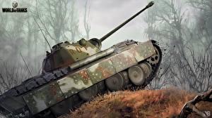 Обои World of Tanks Танки Nikita Bolyakov PzKpfw V Panther Игры фото