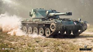 Обои World of Tanks Танки AMX ELC BIS Игры фото