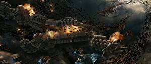 Обои Битвы Техника Фэнтези Корабли Инопланетяне Ender's Game Фильмы Космос фото