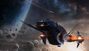 Обои Star Citizen Корабли Carrack Игры Космос Фэнтези фото