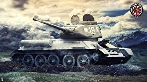 Обои World of Tanks Танки Русские Т-34-85 Игры фото