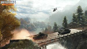 Обои Battlefield 4 Танки Мосты Вертолеты Игры фото