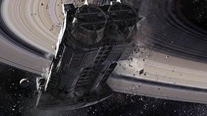 Обои Destiny (игра) Корабли Cassini Derelict Игры Фэнтези Космос фото