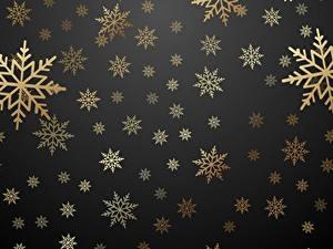 Картинка Текстура Рождество Снежинки