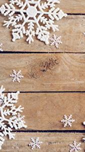 Обои для рабочего стола Рождество Снежинки Доски Шаблон поздравительной открытки