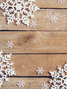 Фото Рождество Снежинки Доски Шаблон поздравительной открытки