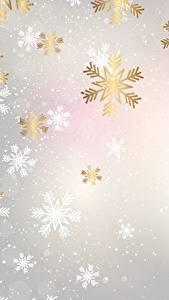 Обои Текстура Рождество Снежинки