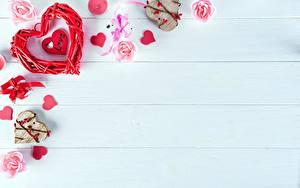 Фотография День всех влюблённых Сердца Шаблон поздравительной открытки Доски