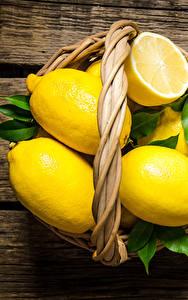 Картинки Лимоны Доски Корзинка