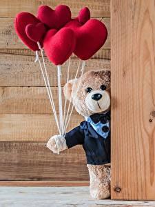 Картинки Мишки День святого Валентина Сердце Доски