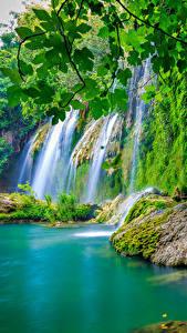 Обои Водопады Мох
