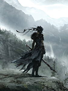 Обои Воины Горы Hellblade: Senua's Sacrifice Мечи Игры