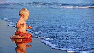 Фотография Берег Волны Грудной ребёнок Мальчики