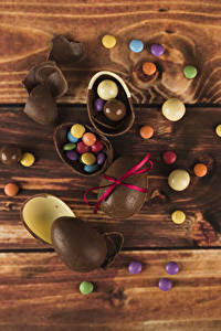 Картинки Пасха Конфеты Шоколад Доски Яйца