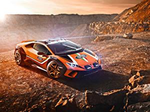 Фотографии Ламборгини Стайлинг Оранжевая 2019 Huracán Sterrato Concept авто