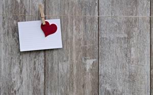 Картинки День святого Валентина Доски Прищепки Лист бумаги Сердце
