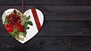 Фотография Букет Доски Сердце Шаблон поздравительной открытки