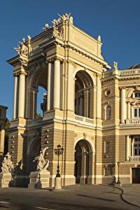 Обои Одесса Украина Дома Скульптуры Theatre of Opera and Ballet город