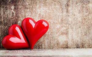 Картинка День святого Валентина Вдвоем Сердце Красный