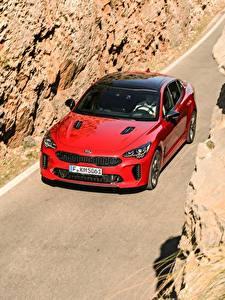 Фото Киа Красный Металлик Спереди 2017 Stinger GT Worldwide Авто