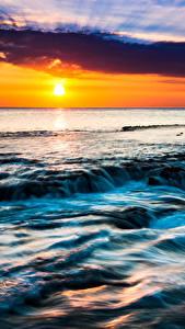 Обои Тропики Пейзаж Рассвет и закат Небо Гавайи Солнца