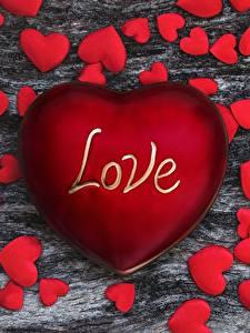 Обои День всех влюблённых Красная Сердечко Слова Английская love