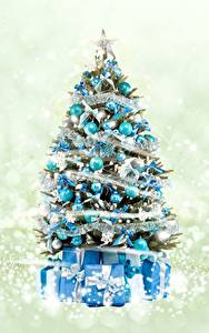 Фотографии Новый год Елка Подарки Шарики