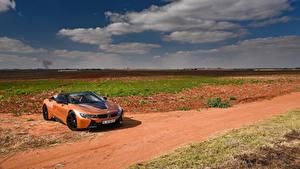 Обои BMW Оранжевый Кабриолета Родстер 2018 i8