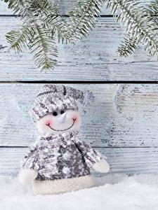 Фотография Доски Снеговики Снега Природа