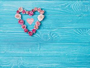 Фотография Сердца Сердце Доски Шаблон поздравительной открытки Цветы