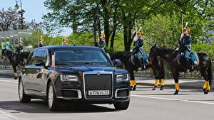 Фото Aurus Черных Металлик 2018-19 Senat Limousine L700 машина