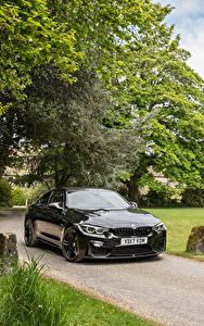Картинка BMW Черные Металлик 2017 M4 Coupe авто