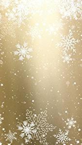 Фото Новый год Текстура Снежинка