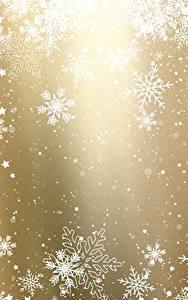 Фото Новый год Текстура Снежинки