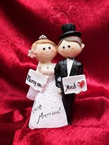Фотография Свадьба Жених Невеста Шляпа Английский Кукла