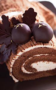 Фото Рулет Сладости Шоколад