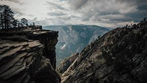 Обои Штаты Парки Горы Йосемити Калифорния Утес Природа