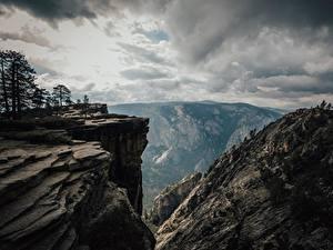 Обои Штаты Парки Горы Йосемити Калифорния Утес