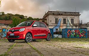 Картинки Renault Красный Металлик 2019 Twingo Worldwide