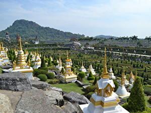 Фотография Таиланд Тропики Парк Дизайна Pattaya, Nong Nooch tropical Park, Chonburi province Города