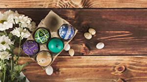 Фотографии Праздники Пасха Хризантемы Доски Яйцо