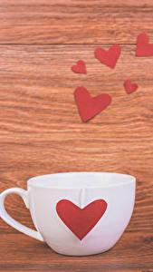 Картинка День святого Валентина Доски Чашка Сердечко Еда