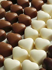 Фото Сладости Конфеты Шоколад Много Сердечко Пища