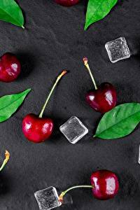 Фотографии Черешня Лед Лист Пища