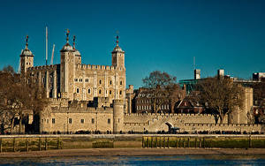 Фотографии Великобритания Крепость Лондоне Tower город