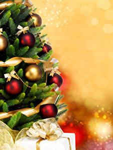 Обои Рождество Новогодняя ёлка Шар
