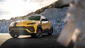 Обои Lamborghini Желтый Металлик CUV Urus SSUV, 2020 Автомобили