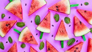 Картинки Арбузы Креативные Кусочек Продукты питания
