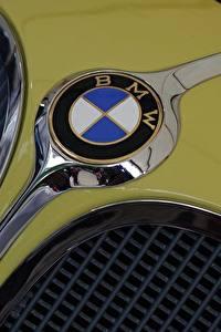 Фото Крупным планом БМВ Логотип эмблема Автомобили