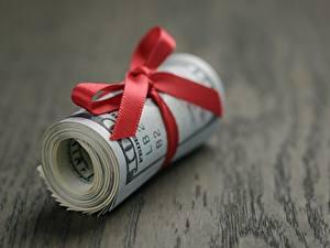 Фотографии Деньги Доллары Вблизи Бантик